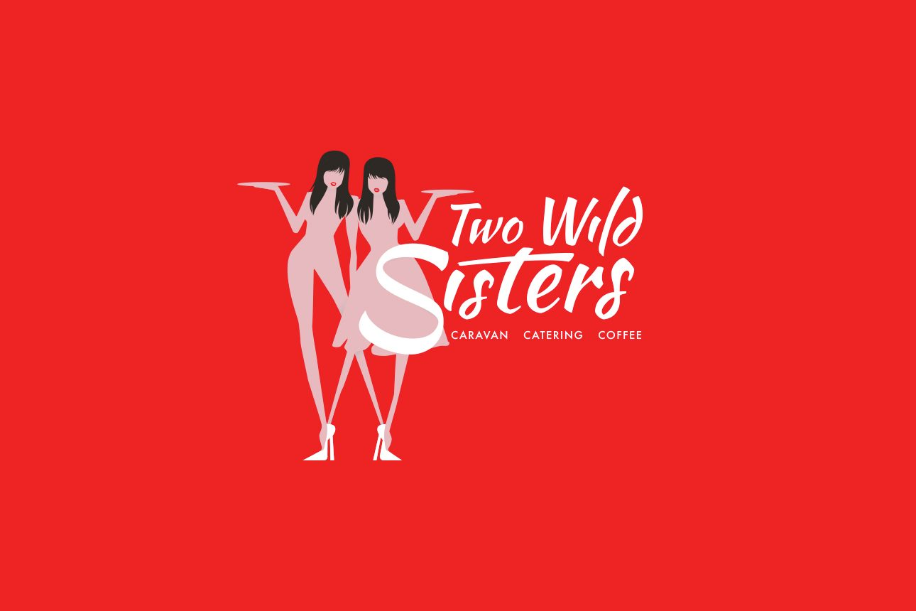 TwoWildSisters Logo OnRed