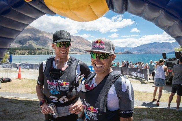 Braden Currie and Dougal Allan celebrate win on day 1